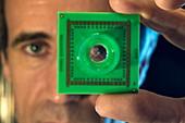 Micro-electrode array biochip