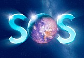 Earth SOS,conceptual image