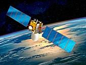 Communications satellite,artwork