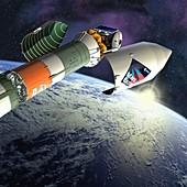 Mars Express launch,artwork