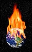 Global warming,conceptual artwork