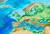 European topography,ETOPO1 model