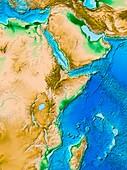 Great Rift Valley,ETOPO1 model