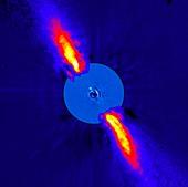 Beta Pictoris planet,infrared image