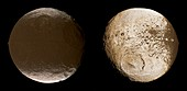 Saturnian moon Iapetus,Cassini images