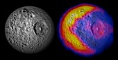 Mimas temperatures,Cassini images