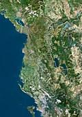 Albania,satellite image