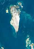 Bahrain,satellite image