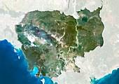 Cambodia,satellite image