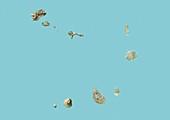 Cape Verde,satellite image