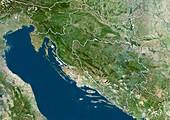Croatia,satellite image