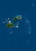 Fiji,satellite image