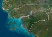 Guinea-Bissau,satellite image