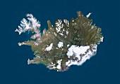 Iceland,satellite image
