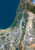 Israel,satellite image
