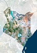 Kenya,satellite image