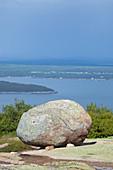 Glacial Erratic,Acadia National Park