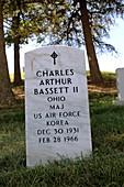 Grave of Charles Bassett,NASA astronaut