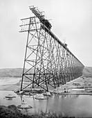 Lethbridge Viaduct construction,1907-9