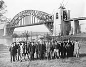 Hell Gate Bridge engineers,1916