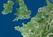 North-western Europe,satellite image