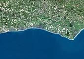 Sussex coast,satellite image
