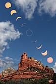 Annular solar eclipse,Red Rocks,USA
