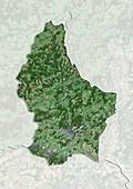 Luxembourg,satellite image