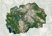 Macedonia,satellite image
