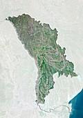 Moldova,satellite image
