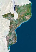 Mozambique,satellite image