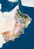 Oman,satellite image