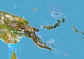 Papua New Guinea,satellite image