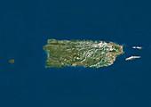 Puerto Rico,satellite image