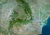 Romania,satellite image