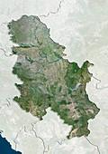 Serbia,satellite image