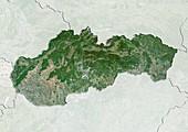 Slovakia,satellite image
