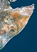 Somalia,satellite image