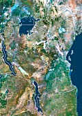 Tanzania,satellite image