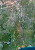 Togo,satellite image
