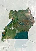 Uganda,satellite image