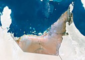 United Arab Emirates,satellite image