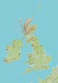 United Kingdom,satellite image