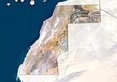 Western Sahara,satellite image