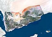 Yemen,satellite image