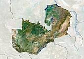Zambia,satellite image