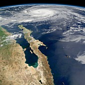 Hurricane Norbert,satellite image