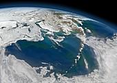Bering Sea,satellite image