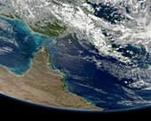 Great Barrier Reef,satellite image