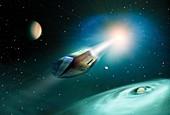 Spaceship,conceptual artwork